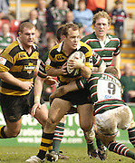 Leicester, ENGLAND, Mark van Gisbergen, attempts to break thorugh, Guinness Premiership Rugby,  Leicester Tigers vs London Wasps © Peter Spurrier/Intersport-images.com.
