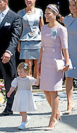 8-6-2014 STOCKHOLM - Princess Madeleine en Christopher O'Neill after the christening of Swedish Princess Leonore at Drottningholm Palace outside Stockholm, Sweden, 08 June 2014. cOPYRIGHT ROBIN UTRECHT