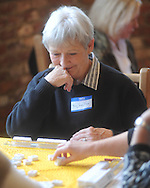 Mary Jane Dollar plays in Tin Pann Alley's 2nd annual Mahjongg Tournament in Taylor, Miss. on Monday, November 15, 2010.