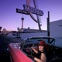 1962 Pink Cadillac Convertible, Downtown Las Vegas, Nevada, USA