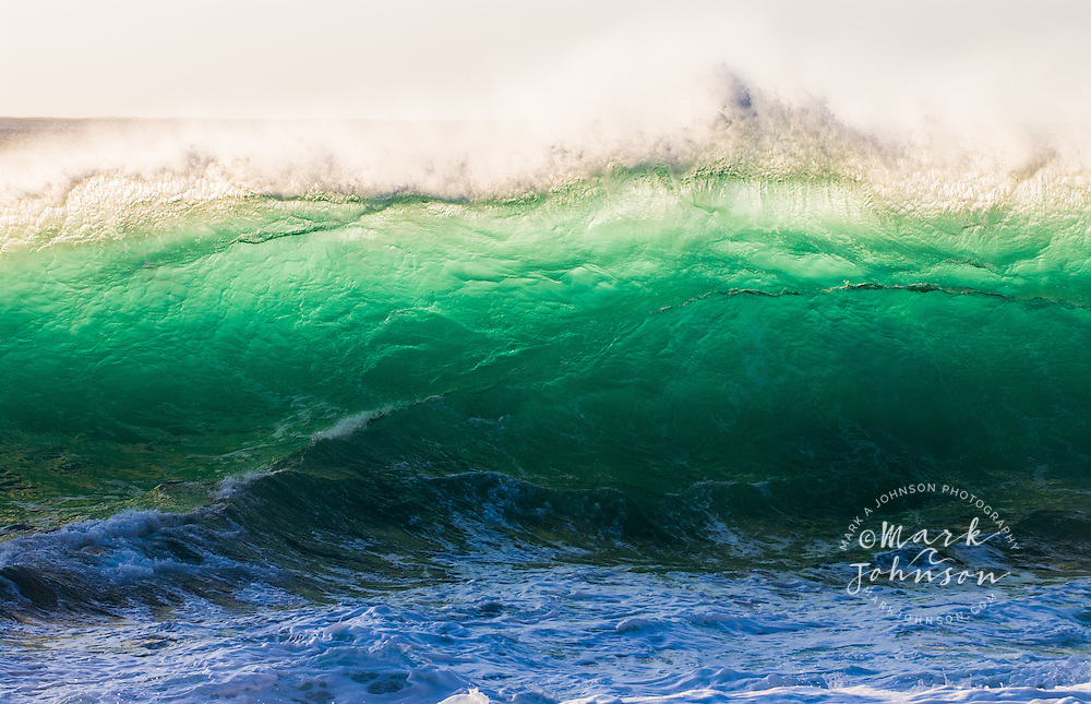 Emerald Wall II: beautiful backlit green wave