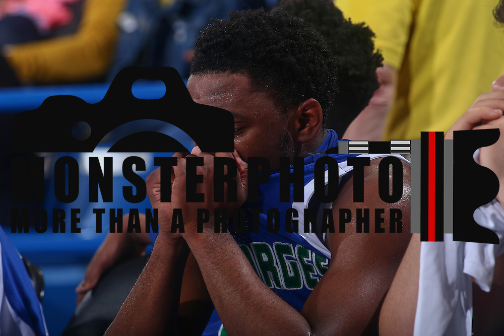 St. Georges Hawks Guard KYSON RAWLS (2) seen in tears after losing the Delaware Boys Basketball DIAA State Tournament 39-32 to the Sanford Warriors Saturday, Mar. 12, 2016, at The Bob Carpenter Sports Convocation Center in Newark, DEL.