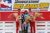 Danica Patrick, Helio Castroneves, Scott Dixon, Indy Japan 300, Twin Ring Motegi, Motegi, Japan, 4/20/2008