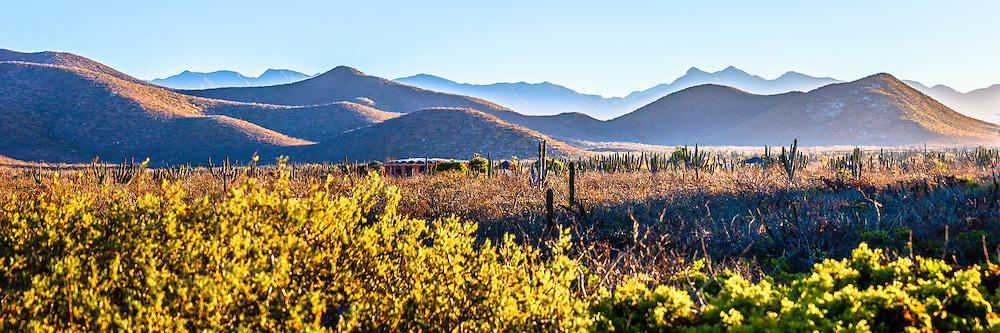Baja Mountains Panorama near Cerritos, Baja sur, Mexico