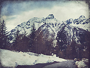 Italian Alps at the end of Winter - textured photograph<br /> Society 6 products:<br /> https://society6.com/product/snow-on-the-mountains_print#1=45