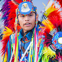 LAS VEGAS - MAY 24 : Native American man takes part at the 25th Annual Paiute Tribe Pow Wow on May 24 , 2014 in Las Vegas Nevada. Pow wow is native American cultural gathernig event.