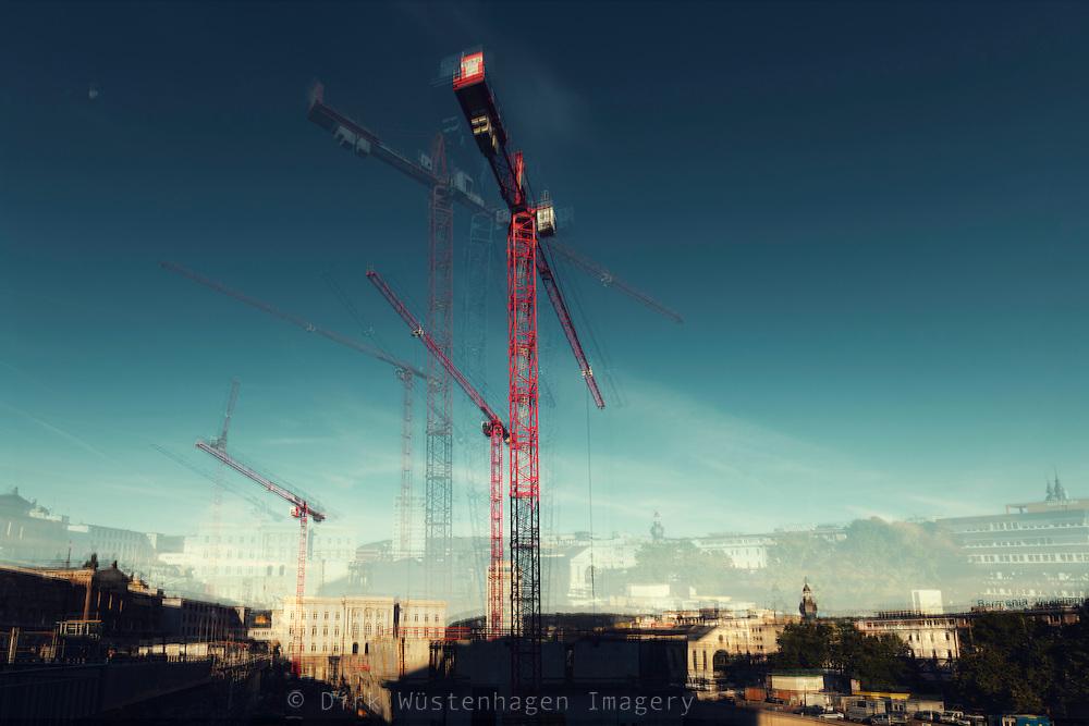 Baustelle Döppersberg im Wandel - mehrfach belichtete Fotografie