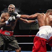 "Light-Heavyweight weight boxing pro David ""one two Murray of Wilmington (L) in action during champs at the chase against Light-Heavyweight weight boxing pro Jihad St. John (R) Friday, Nov 21, 2014 at The Case Center on The River Front in Wilmington, Del."
