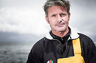 The Sevenstar Round Britain Race 2014. Musandam-Oman Sail MOD70 Trimaran sets a new world record and finishes the race in 3days 3hours 32minutes 36 seconds. Beating the current record by 16 minutes. Skipper Sidney Gavignet (FRA) <br /> Credit - Lloyd Images