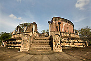 Sri Lanka. The Vatadage temple,  a circular relic house or shrine, at Polonnaruwa.