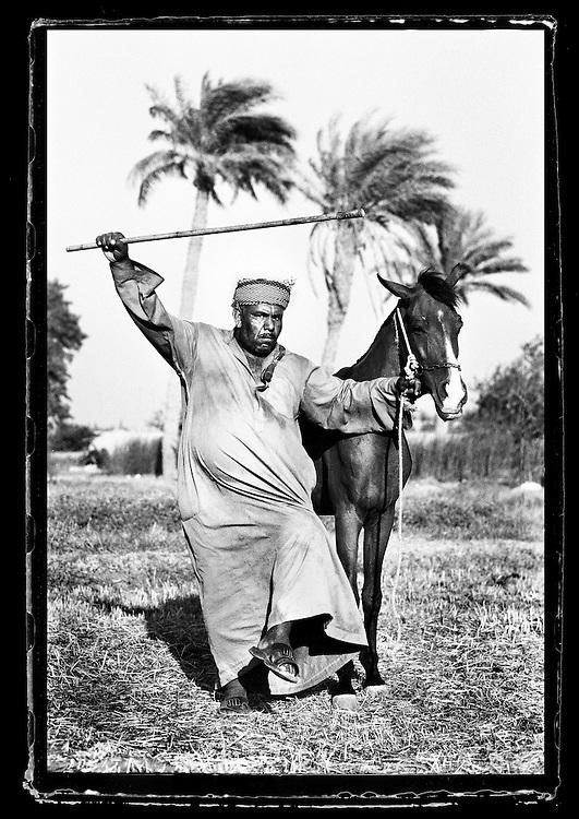 Cairo, Egypt  June 2008<br /> Abd El-Nasser, farmer, poses for the photographer.<br /> Photo: Ezequiel Scagnetti