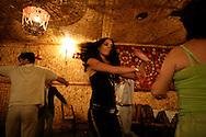 Uzbeks dancing in a restaurant in Tashkent