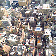 Aerial photographs of midtown Manhattan, New York, New York,
