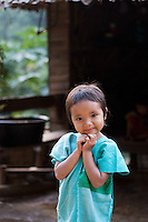 Young girl smiling,  Mae Sam Laep, Mae Hong Son Province, Thailand