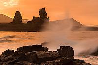 Malarrif in Snæfellsnes peninsula. Sunset.
