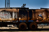 Oil from an exploratory oil rig in Upper Nile State, Southern Sudan's most productive oil area.