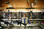 Chimo guns in Wasilla, Alaska. Chimo Guns is where Sarah Palin is know to buy her ammo. 2008