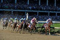 141st Kentucky Derby, Run for the Roses, Louisville, KY, USA - May1-2, 2015;  Churchill Downs,<br /> 1st-#10, American Pharoah, 2nd-#18, Firing Line, 3rd-#8, Dortmund.