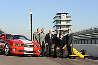 Chevrolet Indy Car engine announcement, Indianapolis Motor Speedway, Roger Penske, Randy Bernard, Al Unser Jr., Will Power, Helio Castroneves, Arie Luyendyke