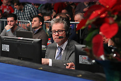 Dec 22, 2012; New York, NY, USA; Trainer Freddie Roach sits ringside to commentate on the Tomasz Adamek vs Steve Cunningham 12 round IBF North American Heavyweight title bout at the Sands Casino Resort Bethlehem.