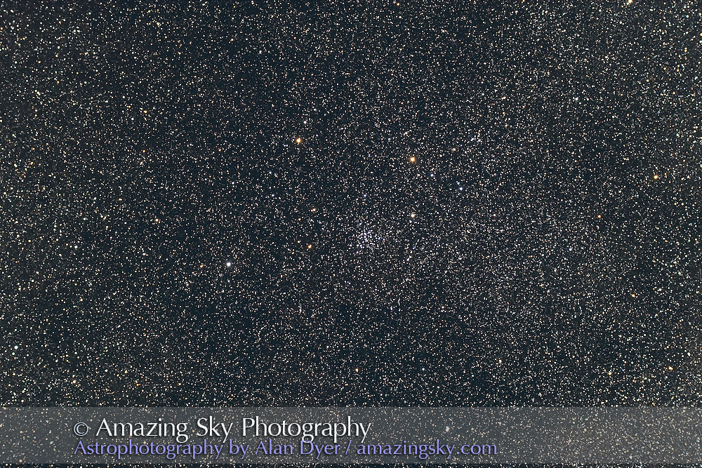 NGC 4103 open cluster in Crux. Taken with 4-inch AP Traveler apo refractor at f/4.5 with Canon 5D camera at ISO 800 for stack of 4 x 4 minute exposures. Taken from Coonabarabran, NSW, March 27, 2007