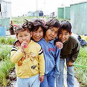 Children in Newtok, Alaska. 2008