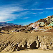 Painted Hills And Distant Salt Flats - Death Valley, CA