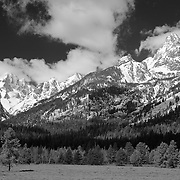 South Grand Tetons Shadows, WY - Infrared Black & White