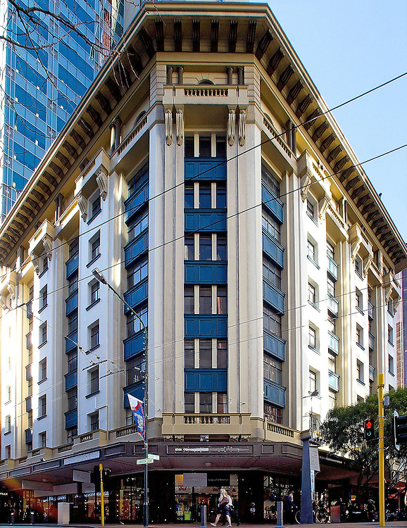 The heritage listed Harcourts building in Lambton Quay that was damaged by Sundays earthquake. The current owner wants to have it demolished as no one wants to lease the floors in Wellington, New Zealand, Thursday, July 26 2013. Credit: SNPA / Marty Melville (Editors note: Perspective corrected)