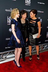 LOS ANGELES, CA - JUNE 10: Julia Garner, Lily Tomlin and Marcia Gay Harden attend the opening night premiere of 'Grandma' during the 2015 Los Angeles Film Festival at Regal Cinemas L.A. Live on June 10, 2015. Byline, credit, TV usage, web usage or linkback must read SILVEXPHOTO.COM. Failure to byline correctly will incur double the agreed fee. Tel: +1 714 504 6870.