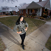 Miss Michigan USA Rima Fakih of Dearborn won the Miss USA title Sunday. Lebanese American Rima Fakih, first made history when she became the first Arab American and Muslim American to win Miss Michigan USA. She is photographed at her home in  Dearborn, MI, Sunday, December 27, 2009. Fakih's family is Muslim but, also celebrates Christian holidays as her father's parents were Muslim and Christian.(Jeffrey Sauger)