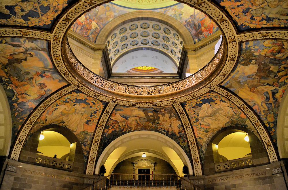Missouri State Capitol Rotunda Dome In Jefferson City