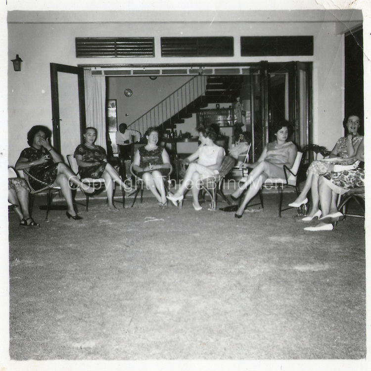 Party at Reid Avenue. Mrs Sylvia Fernando second from left and on her left, Jenny van Twest who was married to Jack van Twest.