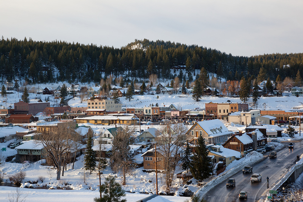 """""""Downtown Truckee 2"""" - This snowy scene of Downtown Truckee, CA was photographed in an incredible snowy November, called Snovember by some locals."""