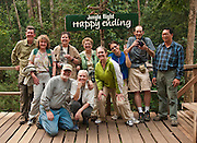 "SATW Freelance Council ""Chiang Mai Adventure"" group at Jungle Flight zip line and forest canopy tour, Chiang Mai, Thailand."