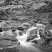 Laurel Creek Lower Cascades - Great Smoky Mountains - Autumn - Infrared Black & White
