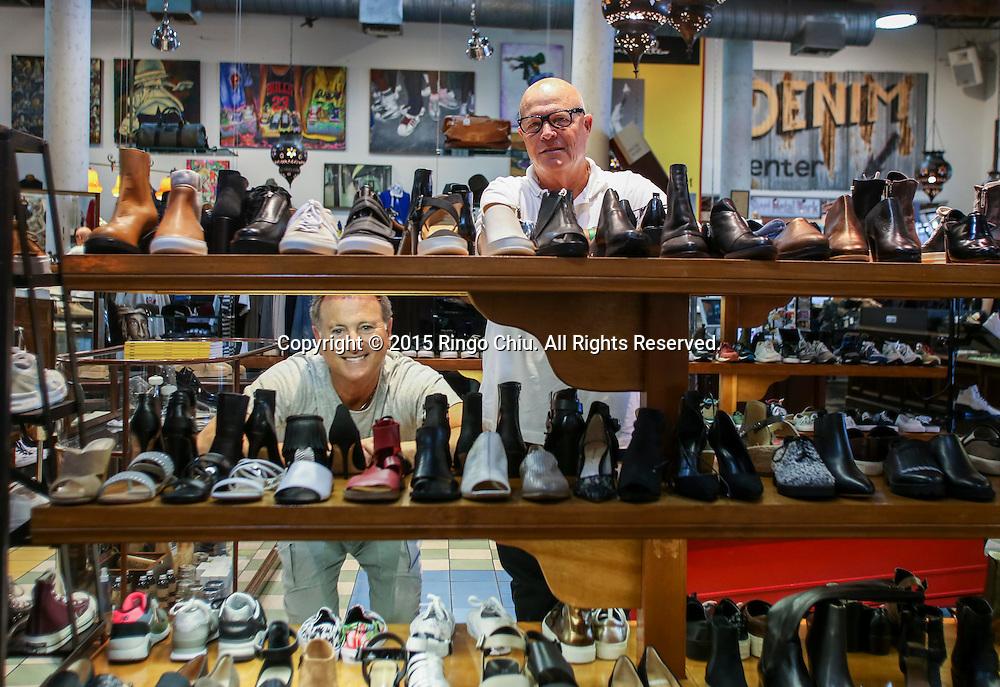 Larry Russ, left, and Mark Wertz, cofounders of retailer American Rag.<br /> (Photo by Ringo Chiu/PHOTOFORMULA.com)