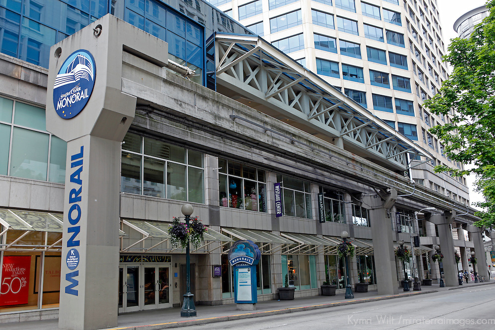 USA, Washington, Seattle. Seattle's Monorail Station.