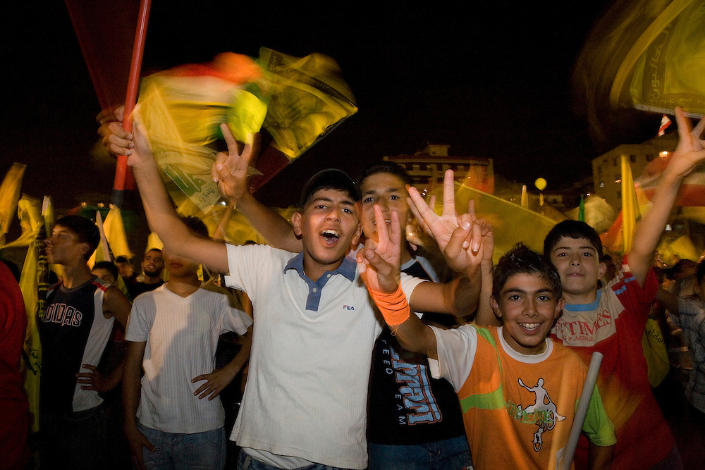 14 August 2007 marks exactly one year after the end of the war between Israel and Hizbollah in what is often referred to as the July War. Tens of thousands of Hizbollah supporters came out to celebrate the anniversary which Hizbollah celebrates as a victory over Israel.