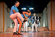 Salsa dancers at the Benny More night club in Holguin, Cuba.