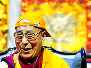 11-5-2014 - ROTTERDAM - The Dalai Lama gives a speech in the Ahoy in Rotterdam. The spiritual leader of Tibet brings a three-day visit to the netherlands . COPYRIGHT ROBIN UTRECHT