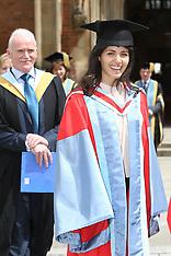 JUL 05 2014 Singer Katie Melua celebrates after Graduation
