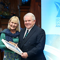 REPRO FREE***PRESS RELEASE NO REPRODUCTION FEE***<br /> Irish Sailing Awards, Royal College of Surgeons, Stephen's Green, Dublin 4/2/2016<br /> National Yacht Club sailor Liam Shanahan was named the 2015 Irish Sailor of the Year today at the Irish Sailing Awards in Dublin - Shanahan had a remarkable year, including victory in the Dun Laoghaire to Dingle race in June on his boat Ruth with two miles to spare.<br /> Kilkenny&rsquo;s Doug Elmes and Malahide&rsquo;s Colin O&rsquo;Sullivan jointly took home the Irish Sailing Association (ISA) Youth Sailor of the Year award. The Howth Yacht Club sailors were hotly tipped following their recent Bronze medal success at the 2015 Youth World Championships in Malaysia, where they took Ireland&rsquo;s first doublehanded youth worlds medal in 19 years.<br /> The Mitsubishi Motors Sailing Club of the Year award was presented to the Royal Irish Yacht Club in honour of their success at local, national and international level.<br /> Mullingar Sailing Club took home the ISA Training Centre of the Year award, having been nominated as winners of the western-region Training Centre of the Year.<br /> Fionn Lyden, Sailor of the Month winner for March, and David Lovegrove, President ISA<br /> Mandatory Credit &copy;INPHO/Cathal Noonan