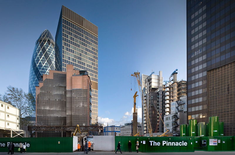 the pinnacle construction site, Bishopsgate, London