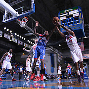 Delaware 87ers Guard Sean Kilpatrick (10) and Grand Rapids Drive Guard Kevin Murphy (19) fight for the rebound in the first half of a NBA D-league regular season basketball game between the Delaware 87ers and the Grand Rapids Drive (Detroit Pistons) Saturday, Apr. 04, 2015 at The Bob Carpenter Sports Convocation Center in Newark, DEL.