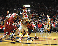 "Ole Miss' Jarvis Summers (32) vs. Arkansas at the C.M. ""Tad"" Smith Coliseum in Oxford, Miss. on Saturday, January 19, 2013. Mississippi won 76-64. (AP Photo/Oxford Eagle, Bruce Newman)"