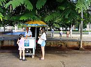 Ice cream stand in Plaza Marti, Remedios, Cuba.