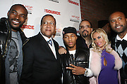 "l to r: Tyson Beckford, Rev. Benjamin Chavis, Bow Wow, Ice T, Coco and Londell McMillan at The Russell Simmons and Spike Lee  co-hosted""I AM C.H.A.N.G.E!"" Get out the Vote Party presented by The Source Magazine and The HipHop Summit Action Network held at Home on October 30, 2008 in New York City"