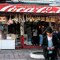 Street market in Banos, Ecuador.