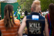 HENRY HEMP aka MAGIC ELLINGSON speaks at a rally in Washington D.C. to legalize cannabis. About 100 grassroots activists called Overgrow The Government, joined together for a protest march in Washington D.C. to demand an end to cannabis prohibition. The group marched from the Washington Monument to Lafayette Park behind the White House.